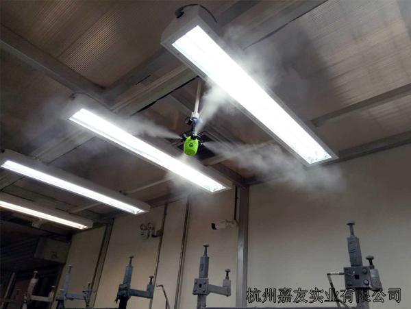 吉利汽车喷涂车间干雾加湿案例