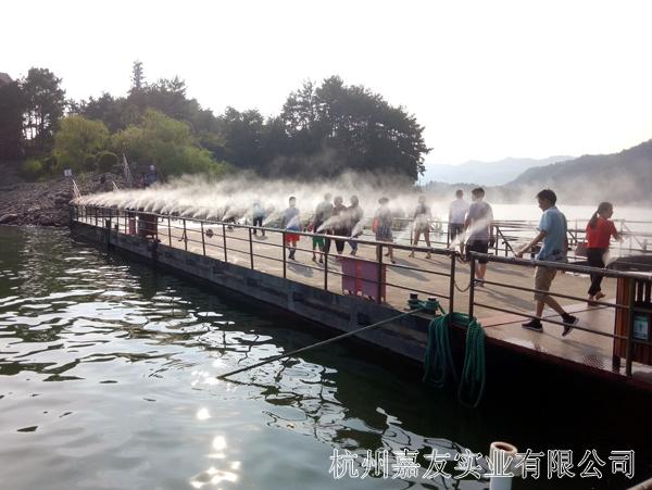浙江千岛湖喷雾降温造景案例