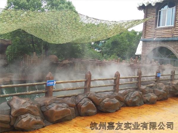 杭州长乔极地海洋公园喷雾降温及造景案例