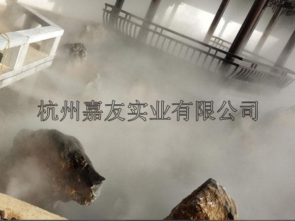 """常州某旅游景点""""雾王""""景观造雾降温系统安装案例"""