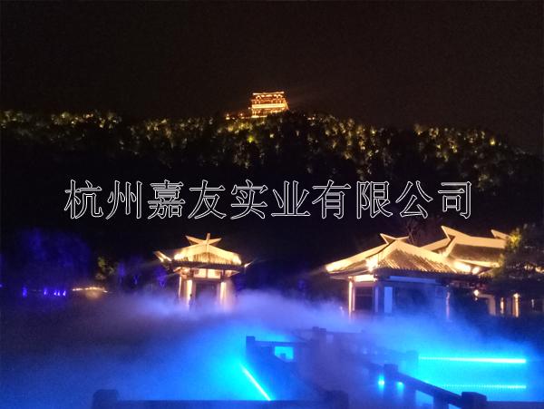 富阳东吴文化公园高压微雾