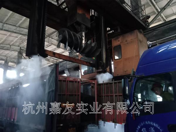 金牛天铁煤焦化卸料车间高压喷雾降尘解决方案