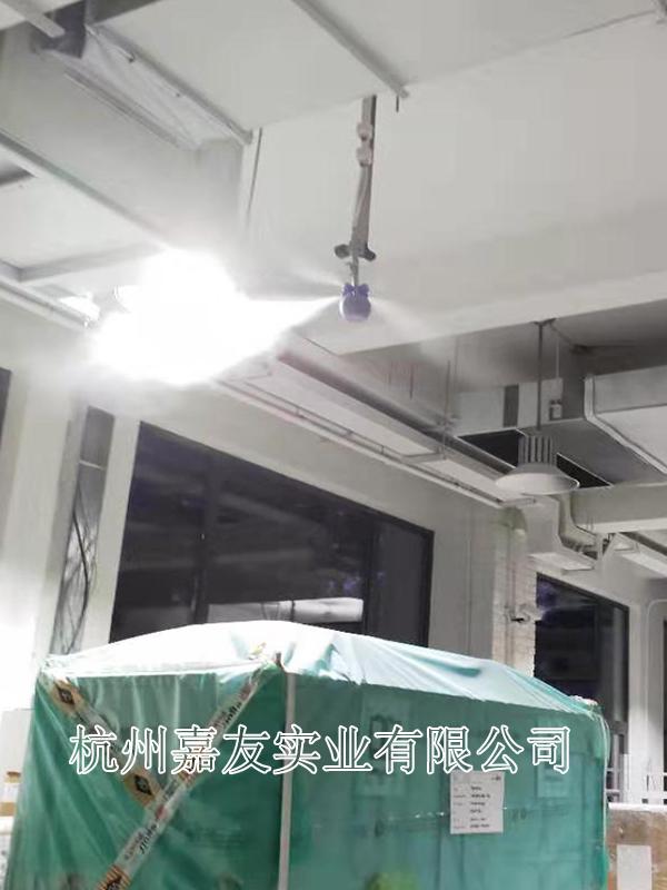"""上海同昆文化发展有限公司印刷车间加湿安装""""雾王""""干雾加湿器案例"""