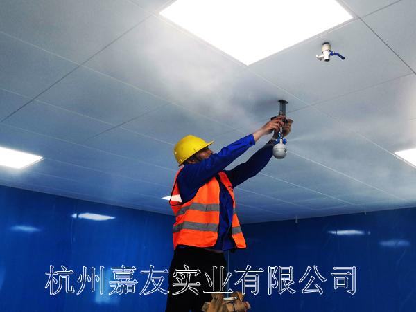 上海兰映电器电子车间安装JY-QS4干雾加湿器