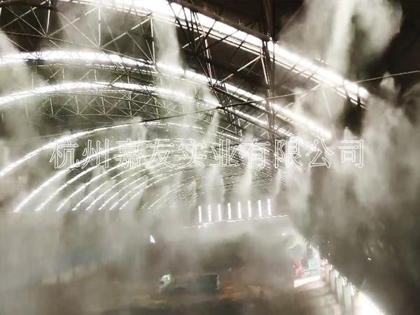 山西长治兴宝钢铁公司安装高压喷雾降尘系统