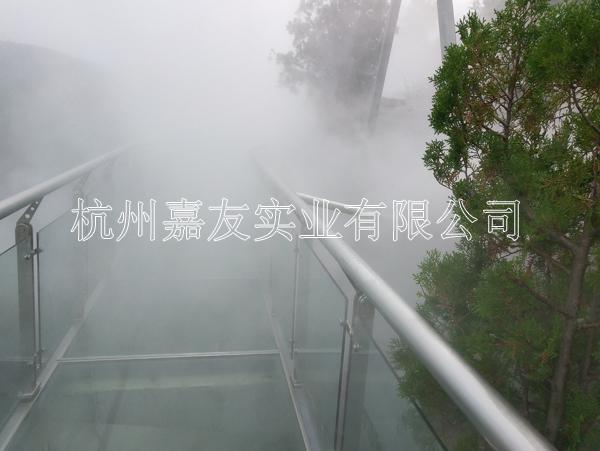 """山东枣庄葫芦套景区""""雾王""""景观人造雾系统安装案例"""