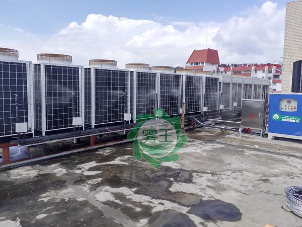 雾王空调机组微雾降温系统在青大附院市南院成功安装运行