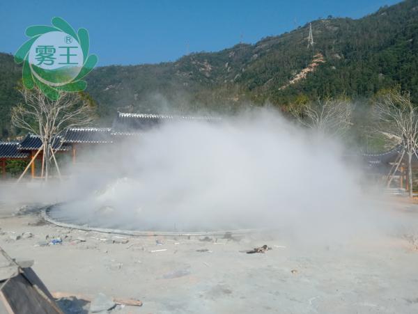 杭州嘉友携手浙江城建设计院安装合作社景观人造雾系统案例