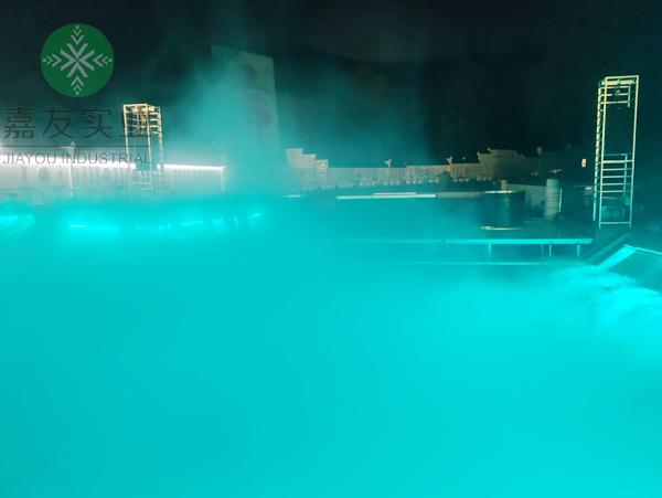 杭州嘉友为南京溧水大金山国防园安装水塘景观人造雾系统案例