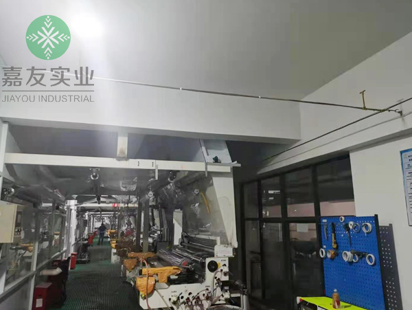 杭州嘉友为星华反光材料生产车间制定高压微雾加湿器加湿方案