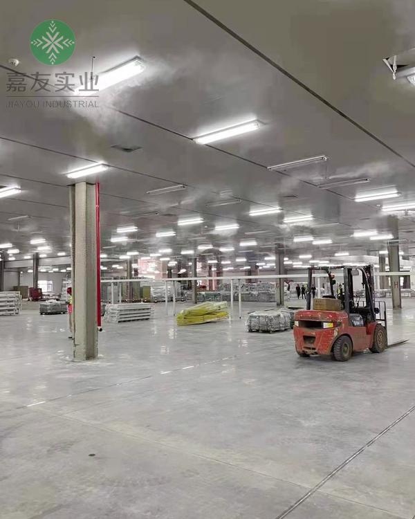 杭州嘉友携手无锡特恺鑫科技安装光伏固化车间加湿器案例