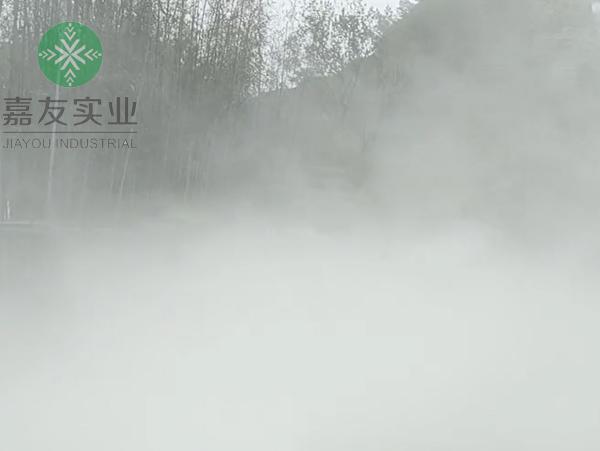 杭州嘉友为圣域嘉千岛湖香里开元度假村安装雾森系统造景案例