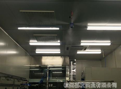 雾王张家港机电有限公司车间干雾加湿除静电案例