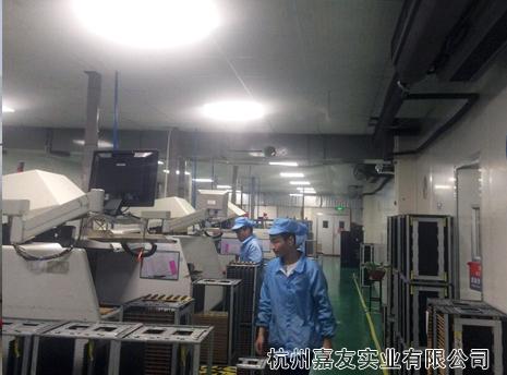 宁波北仑区某电器smt车间高压微雾加湿除静电案例
