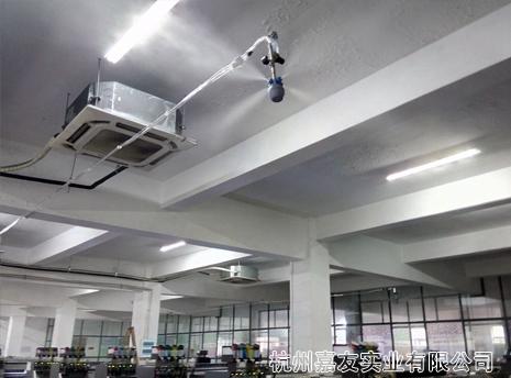浙江开源数码印花雾王加湿除静电案例