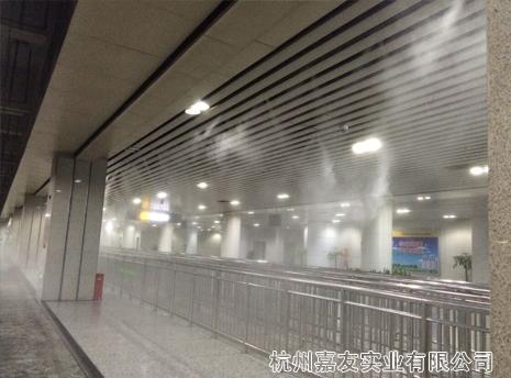 宁波市火车站站台及公交站台喷雾降温解决方案
