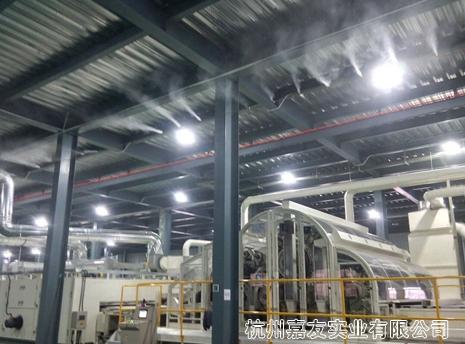 福建泉州无纺布工业加湿器安装案例