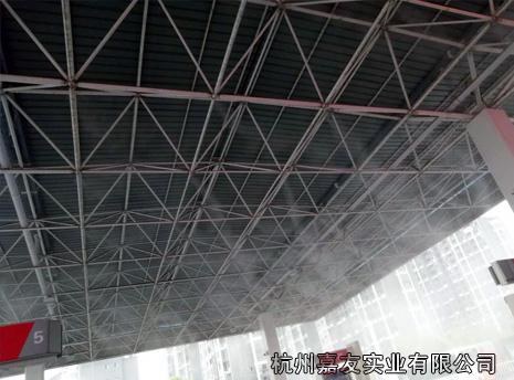 江西上饶加油站喷雾降温案例