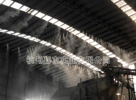 山东碎石车间高压喷雾降尘解决方案