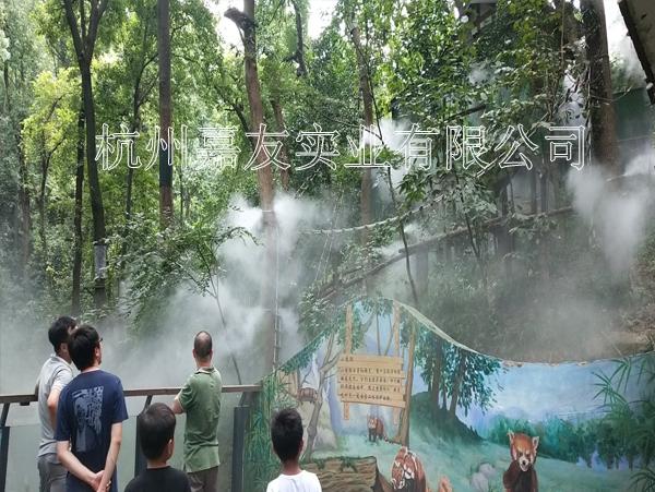 """杭州动物园采用""""雾王""""喷雾降温系统案例"""
